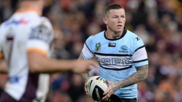 Todd Carney during the Sharks' victory against the Brisbane Broncos in Brisbane on Friday night.