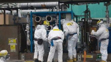 Ah, the magic of clean, safe nuclear energy - Fukushima style!