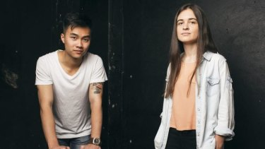 Wordsmiths: Troy Wong and Yasmin Lewis who will be competing in the NSW Poetry Slam finals.