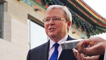 Kevin Rudd in Beijing.