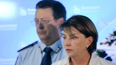 Queensland Premier Anna Bligh speaks with the media about the impedning flood crisis in Goondiwindi.