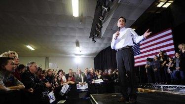 In the lead ... Republican presidential hopeful Mitt Romney.