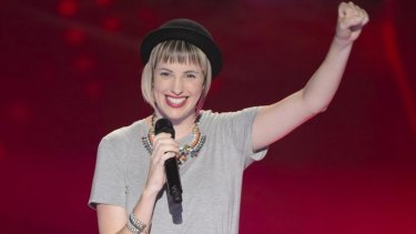 Canberra's Amber Nichols performing at her blind audition on Monday night's episode of <i>The Voice</i>.