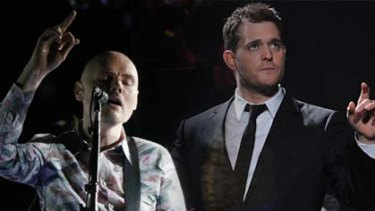 Chalk and cheese ... Billy Corgan and Michael Buble.