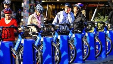 The bike station at Melbourne University.