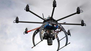 A drone built by University of Tasmania researchers dubbed ?Terra Luma.