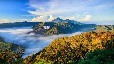 Mt Rinjani, on the Indonesian island of Lombok.