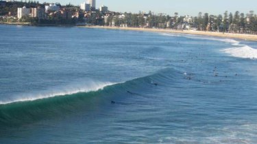 The surf at Manly this morning.