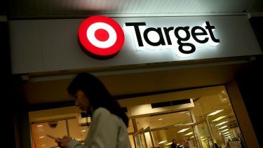 Target's total sales for the financial year to date have fallen by 17.6 per cent .