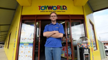 Owner of Toyworld Seymour Werner Baumann from whom  $10,000 of Lego was stolen.