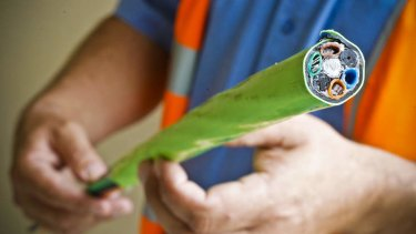 The Opposition's NBN would not use the optical fibre cables, and stick to existing copper cables.