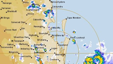 At 4.50am, the eye of the storm was directly over Murwillumbah.