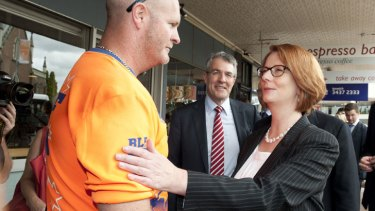 Prime Minister Julia Gillard was in Ipswich announcing $135m in disaster relief funding for Queensland.