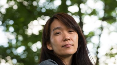 South Korean writer Han Kang at Edinburgh Writers' Festival in 2015.