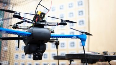 Dinuka Abeywardena's drone navigates by using a camera, rather than GPS.