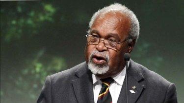 Leadership vacuum … Sir Michael Somare.
