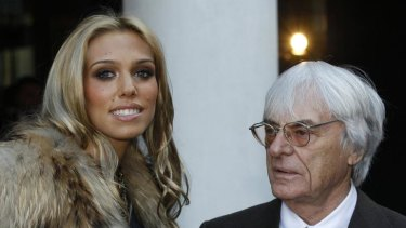 Petra Ecclestone and father Bernie.