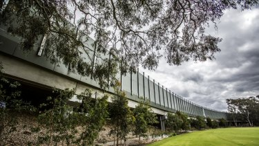 The sound barrier and South-Eastern Freeway over a section of Scotch College land for which the state government paid $5.4 million in a compulsory acquisition.
