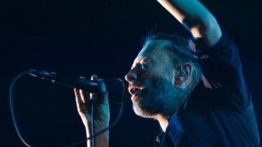 Electronic shift: Thom Yorke of British band Radiohead.