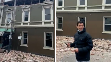 A number of witnesses filmed tremors and damage across Melbourne after a 6.0 magnitude earthquake was recorded in Victoria.