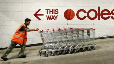 Growth at Coles has gone backwards, with figures showing the grocery giant marginally below market forecasts.