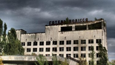 An abandoned hotel, part of the contaminated area surrounding the Chernobyl Nuclear Power Plant.