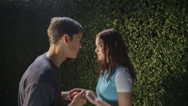 Highly regulated lives: Thawaites and Odeya Rush star in <i>The Giver</i>.