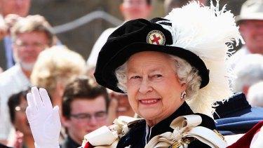 Queen Elizabeth II ... celebrating her diamond jubilee.