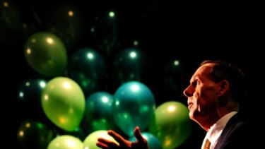 ''A vision for this great south land'' ... Bob Brown launches the Greens campaign in Canberra yesterday.