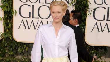 Great white hope ... Tilda Swinton.
