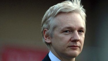 Conflicted reaction: Julian Assange.