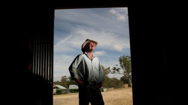 Farmer Duncan Barber is in a stoush with MP Simon Ramsay over his planned wind turbines.