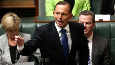 Hedging: Prime Minister Tony Abbott.