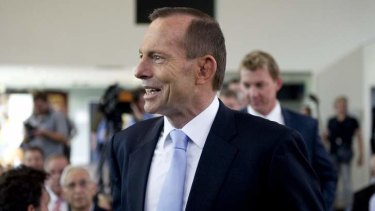 Renewed pursuit of a co-payment: Prime Minister Tony Abbott.