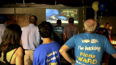 LNP supporters at South Brisbane.