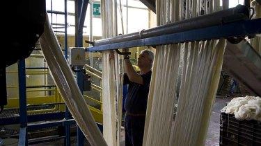 Spin a yarn … the Zegna Baruffa factory in Borgosesia. Zegna has been using Australian wool since the 1920s.