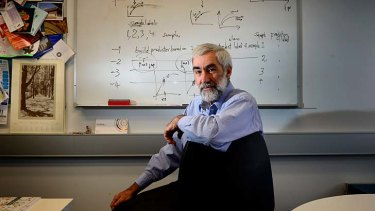 Mathemetician Terry Speed in his office at the Walter and Eliza Hall Institute of Medical Research.