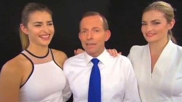 Big Brother appearance: Tony Abbott commented on his daughters' looks.