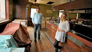 Samantha Pritchard and Peter Bloomfield at the St. Arnaud Hotel they plan to renovate.