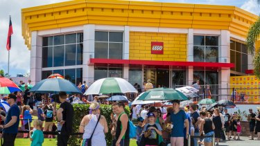 Some fans of the famous plastic bricks camped overnight to be among the first into the store attached to the theme park.