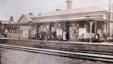 Talbot railway station in its original glory.