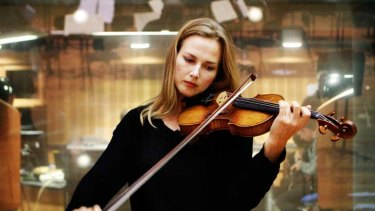Money-spinner ... Satu Vanska with the $1.8m violin.