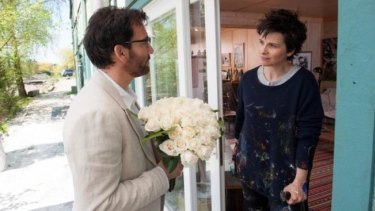 Friends and foes: Clive Owen and Juliette Binoche in <i>Words and Pictures</i>.