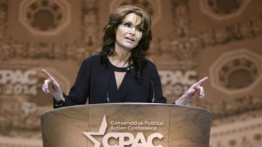 Sarah Palin, the former Republican vice-presidential candidate, has offered unsolicited advice on Russian aggression, saying ''the only thing that stops a bad guy with a nuke is a good guy with a nuke''.