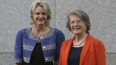 Labor MP Melissa Parke and retired Liberal MP Judi Moylan, winners of political integrity awards.