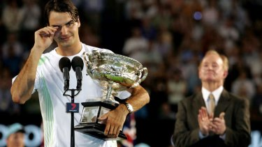 """""""I just think it's wonderful that I have this opportunity because he really is a person that I admire a lot"""": Swiss ace Roger Federer."""