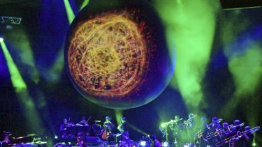 Celestial soundtrack … Bryce Dessner, Nico Muhly and Sufjan Stevens perform Planetarium, which was inspired by space.