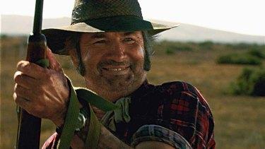 John Jarratt in a scene from <i>Wolf Creek</i>.