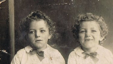 Yooka and Curly Symonds as young boys.