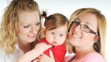 Double mother love ... study finds children raised by lesbians better off than their nuclear family peers.